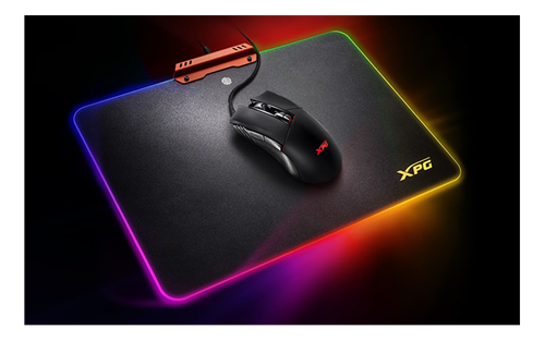 Pelė+kilimėlis A-DATA XPG M10+R10, žaidimams, RGB, juoda / ADATA-380