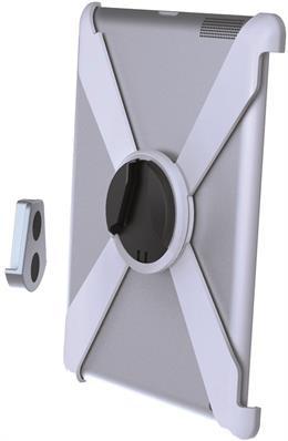 """""""Slide-in"""" sieninis laikiklis, """"iPad 2/3/4"""" sieninis laikiklis, 360 ° sukimasis, aliuminis / plastikas EPZI baltas / ARM-429"""