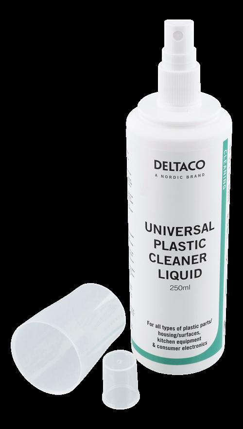 DELTACO plastikinių paviršių valymo skystis, 250ml / CK1024