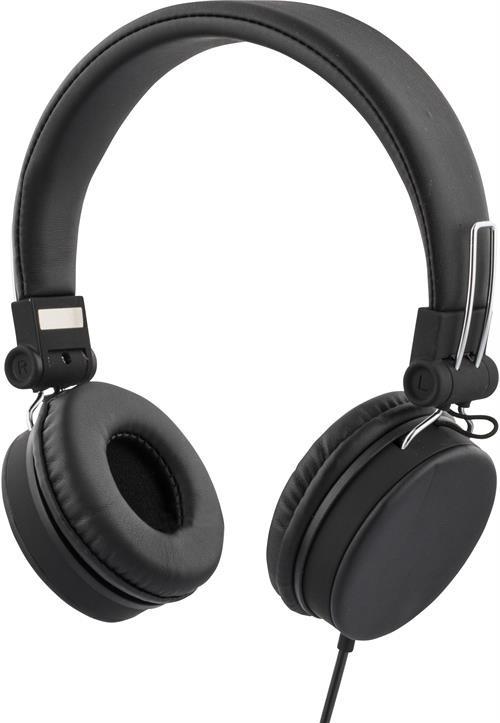 Ausinės STREETZ ant ausų, sulenkiamos, su mikrofonu, juodos / HL-221