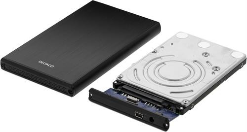 "HDD dėžutė  1x2.5 ""SATA HD, SATA 6Gb / s , USB 3.0, aliuminis / plastikas DELTACO juoda / MAP-GD28U3"