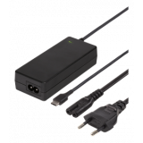 45W USB-C nešiojamas įkroviklis, 2 m, USB-C PD, juodas DELTACO / SMP-USBC45PD