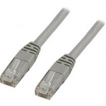 DELTACO U / UTP Cat6 patch kabelis, 0.3m, 250MHz, Delta-certified, LSZH, pilkas TP-603