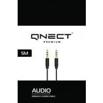 Kabelis QNECT iš 3.5mm į 3.5mm, juodas / 101355