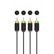 Kabelis QNECT 2x RCA male - 2x RCA male, 2.5m / 101962