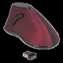 Ergonomiška vertikali optinė 5 mygtukų pelė 2,4 GHz bevielė DeLOCK raudona/juoda / 12528