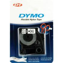 "D1 ženklinimo juosta ""flex nylon"" 12mm, juoda, balta, 3,5 m DYMO / 16957"