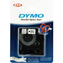 """D1 ženklinimo juosta """"flex nylon"""" 19mm, juoda, balta, juodas tekstas ant baltos juostos, 3,5 m DYMO / 16958"""