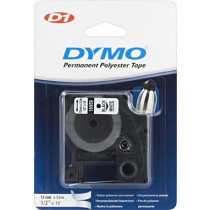 D1 ženklinimo juosta ,12mm, juodas tekstas ant baltos juostos, 5,5 m DYMO / 16959