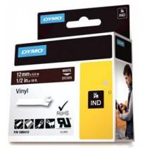 Rhino Professional, žymėjimo juosta, 12mm, baltas tekstas ant rudos juostos, 5,5m DYMO / 1805412