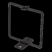 Kabelio žiedas vertikaliam montavimui, 80x80mm, metalas DELTACO juoda / 19-13s