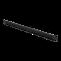 """DELTACO 19 """"kabelių panelė su šepečiu, metalinė/nailoninė, 1U, juoda"""