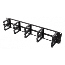Kabelių valdymo kanalas, metalas / plastikas, 2U DELTACO / 19-17
