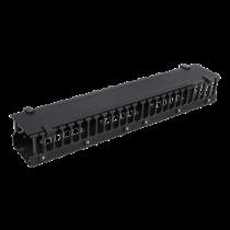 """DELTACO 19 """"kabelių panelė, metal / plastik, 2U, juoda / 19-20"""