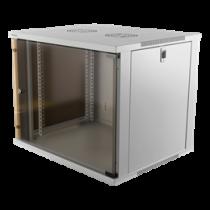 "DELTACO 19 ""spintelė, 9U, 540x450mm, stovai ar siena, stiklinės durys 19-5409W"