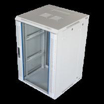 Pakabinama komutacinė spintelė, 18U, 600x600, stiklinės durys, 60 kg apkrova TOTEN (ZH6618.6100) balta / 19-6618V