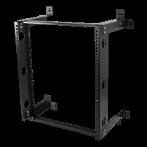 """Sieninis laikiklis DELTACO 19"""", 12U, 60kg apkrova, plieninis, montavimo rinkinys, juodas / 19-DTSR0512"""