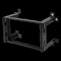 """DELTACO 19 """"wall mount, 6U, 35kg load, steel, mounting kit, black / 19-DTSR0506"""