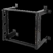 """DELTACO 19 """"wall mount, 9U, 50kg load, steel, mounting kit, black / 19-DTSR0509"""