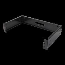 "DELTACO 19 ""sieninis laikiklis, 2U, maks. 25 kg, plieno konstrukcija, juodas / 19-WMB2"