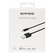 Kabelis Essentials Lightning MFI-USB-A, 1m, juodas / 387924