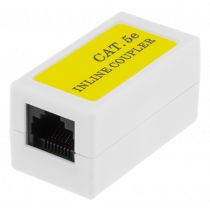 DELTACO coupler Cat5e, UTP (unshielded), female-female, white 665-V