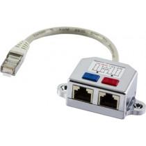 DELTACO Y tinko kabelis, 1xRJ45 ha to 2xRJ45 ho, FTP Cat5 679-F