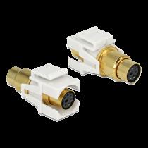 Module DeLOCK Mini-DIN, 6-pin, baltas / 86339