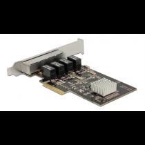 PCI tinklo plokštė DeLOCK 4xRJ45, Realtek RTL8111G Chipset / 89567