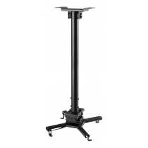 Projektoriaus laikiklis DELTACO OFFICE plokščioms / pasvirusioms luboms, pakreipiamas, pasukamas, 35 kg, juodas / ARM-0412