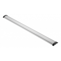 Aliuminis grindų kabelių dangtelis DELTACO OFFICE 1104 x 92 mm, sidabrinis / DELO-0205