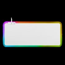 Pelės kilimėlis DELTACO GAMING WHITE LINE 6xRGB režimai, 90x36cm, baltas / GAM-079-W