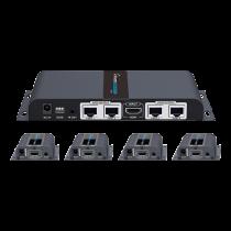 HDMI siųstuvas DELTACOIMP per Ethernet kabelį, 1080p in 60Hz, iki 40m, juodas / HDMI-276