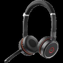 Ausinės JABRA Evolve 75 UC Stereo, Bluetooth 4.2, 15 valandų veikimo laikas, juodas / JABRA-402 / 7599-83 8-109