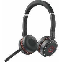 Ausinės JABRA 75 MS Stereo, BT, aktyvus garso slopinimas, USB, juodos / JABRA-403 / 7599-832-199