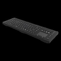 Bevielė klaviatūra DELTACO liečiamas valdymas, silikoninė, IP65, 2,4 GHz, NO layout, juoda / TB-503