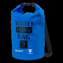 Vandeniui atsparus krepšys DELTACO CS-01, 5L, mėlynas / WAP-100F