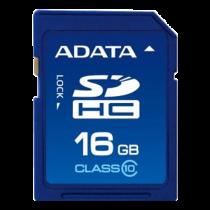 Atminties kortelė A-DATA SDHC, 16GB, class 10, 10/50 Mb/s, mėlyna / ADATA-178