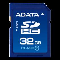 Atminties kortelė A-DATA SDHC, 32GB, class 10, 10/50 Mb/s, mėlyna / ADATA-179