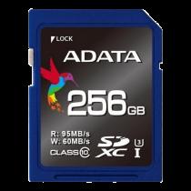 Atminties kortelė A-DATA Premier Pro SDXC, 256GB, class 10, 95/60 MB/s, mėlyna / ADATA-183