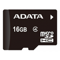 Atminties kortelė A-DATA micro SDHC, 16GB, speed class 4, juoda / ADATA-187