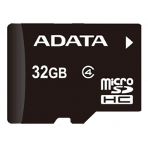 Atminties kortelė A-DATA micro SDHC, 32GB, speed class 4, juoda / ADATA-188