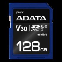 Atminties kortelė A-DATA Premier Pro SDXC, UHS-I U3 Class 10, 128GB, mėlyna / ADATA-339