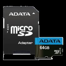 Atminties kortelė A-DATA MicroSDXC, 64GB, su SD adapteriu / ADATA-391