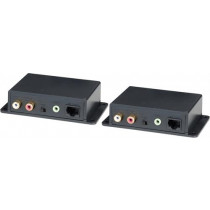 "Signalo stiprintuvas analoginiam garsui per ""Cat5e"", 600m, 3,5mm, RCA, AE02"