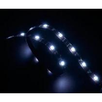 """,,Vegas""""  LED juosta kompiuteriams, 12V, 60cm, 4 kontaktų, 15 LED lempučių Akasa balta / AK-0036"""