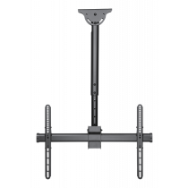 "DELTACO OFFICE Teleskopinis lubų laikiklis, skirtas LED / LCD, 37-70 "", 560 - 910 mm iki 50kg, juodas / ARM-0400"