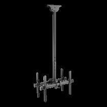 """DELTACO OFFICE Teleskopinis LED / LCD lubinis laikiklis, 37-70 """", 1060 - 1560 mm, iki 45kg (Ekrano)  juodas ARM-0404"""