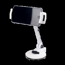 """Išmaniųjų telefonų ir plančetinių kompiuterių stovas, 4 """"-12"""", 360 laipsnių sukimasis DELTACOIMP balta / ARM-260"""