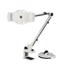 """2 in 1 Plančetinių kompiuterių ir telefonų stovas, 4 """"-12"""", """"C-Clamp"""", 360 laipsnių sukimasis DELTACOIMP balta / ARM-262"""